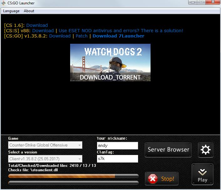 7launcher 10 Download Free Conter Strike Global
