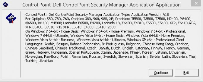 DELL CONTROLPOINT SECURITY DRIVERS FOR WINDOWS MAC