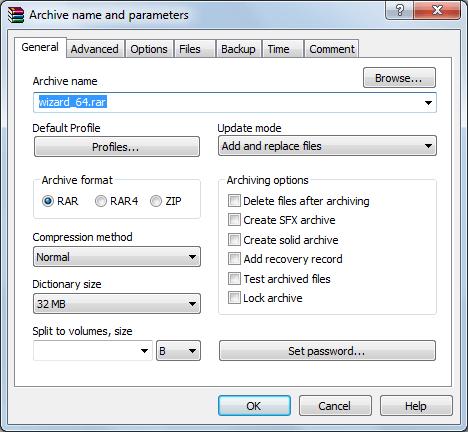 Archive Parameters