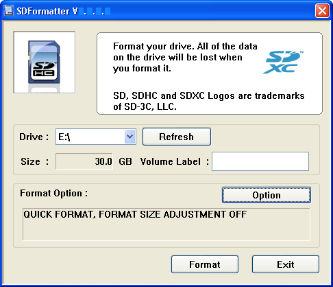 GRATUITEMENT FOR SD/SDHC/SDXC TÉLÉCHARGER FORMATTER 4.0 SD