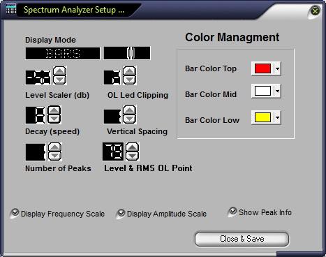 Spectrum Analyzer Setup