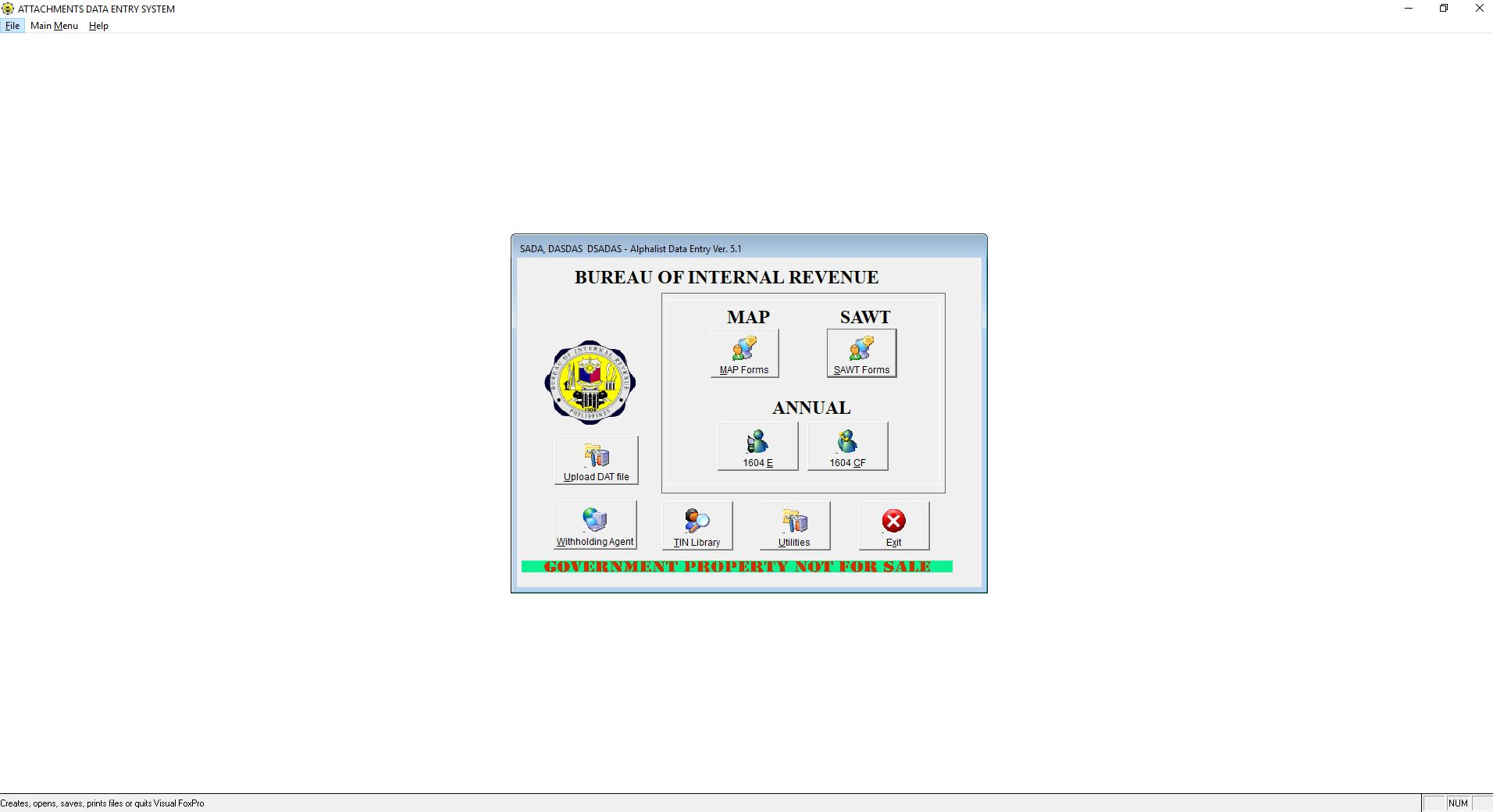 ALPHALIST DATA ENTRY and VALIDATION 3 4 Download (Free) - bir16043 exe