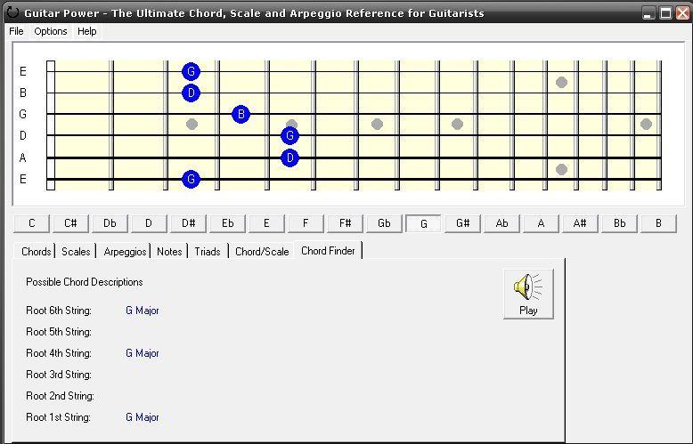 Guitar Power-Chord finder