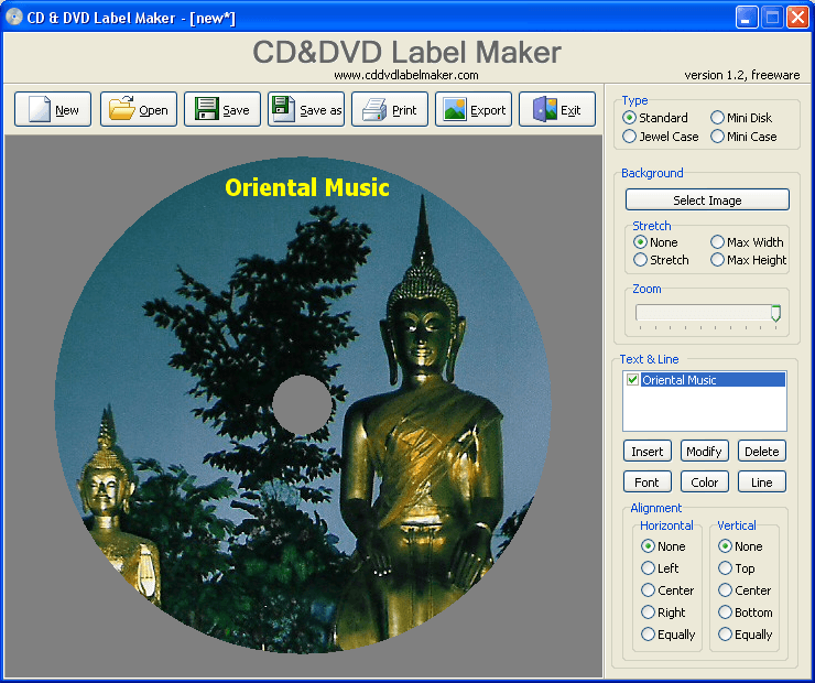 CD & DVD Label Maker Download - A free piece of software to