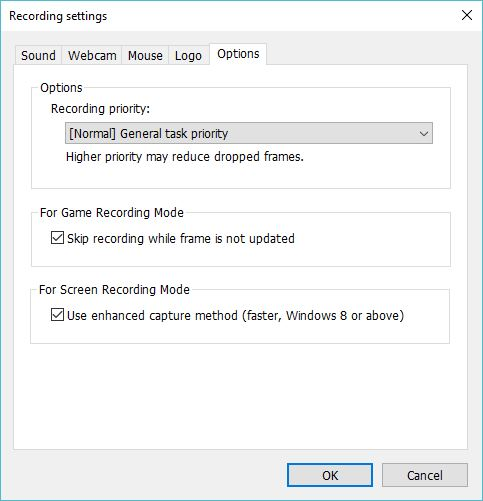 Configuring Recording Settings