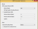 MP3 Encoder Options Window