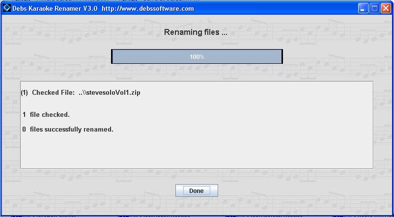 Renaming Karaoke Zip files