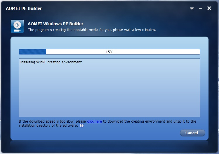 AOMEI PE Builder 1 4 Download (Free) - PEBuilder exe