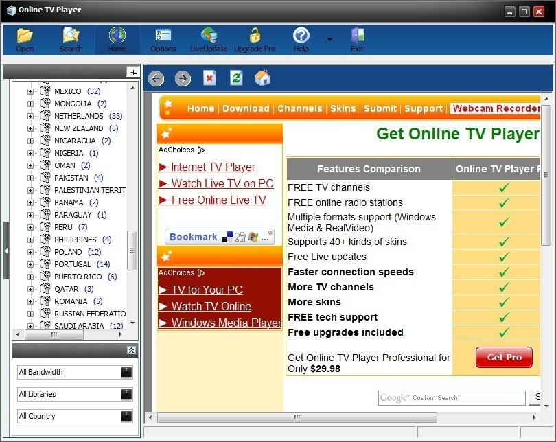Online TV Player  Get the software safe and easy