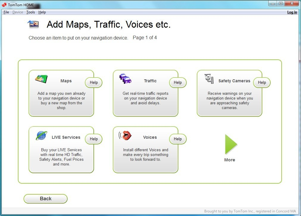 Map, traffic, voices