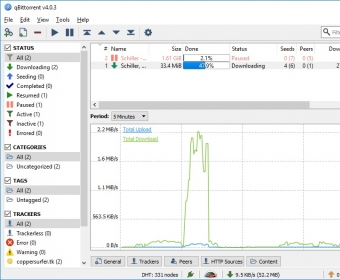 qBittorrent Download - Upload, download, and manage all your torrent
