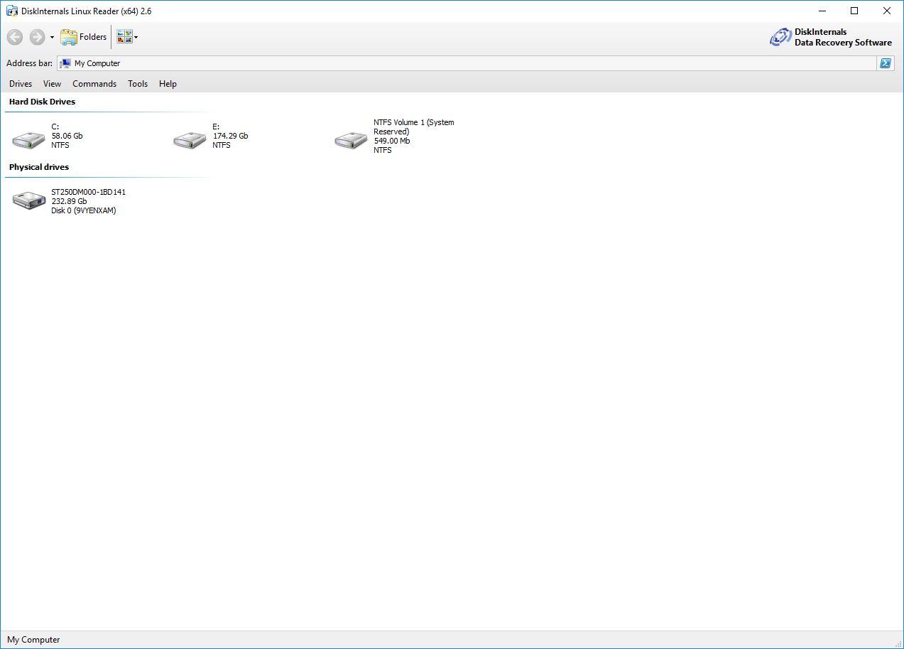 Resultado de imagen para DiskInternals Linux Recovery 6