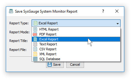 Saving a Report