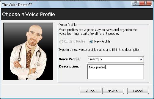 New Voice Profile