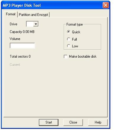 MP3 Player Utilities Download (RdiskUpdate exe)