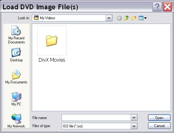 Load DVD image files