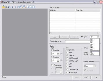 VeryPDF PDF To Image Converter 2 1 Download (Free trial) - PDF2Image exe