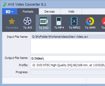 AVS Video Converter 8 0 Download (Free trial