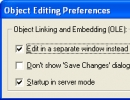 Object Editing Preferences