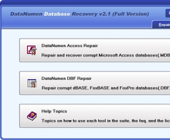 DataNumen Database Recovery - Software Informer  Database recovery