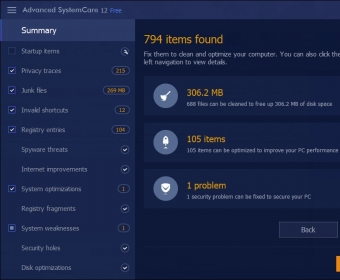 Advanced SystemCare 12 is an all-in-one yet easy-to-use PC optimization software to clean, optimize, speed up, and protect your system, as well as secure your online privacy. IObit have recently released version  12 of Advanced System Care. Prominent changes include