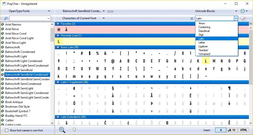 Unicode Blocks