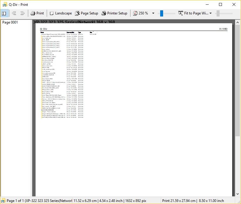 Print File List