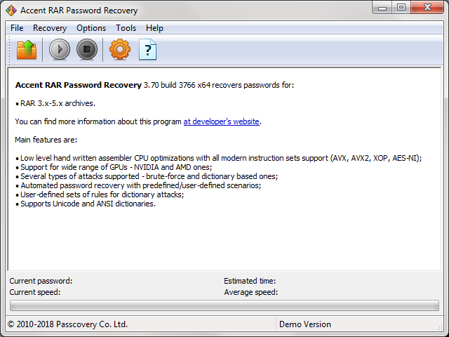 Accent RAR Password Recovery  Get the software safe and easy