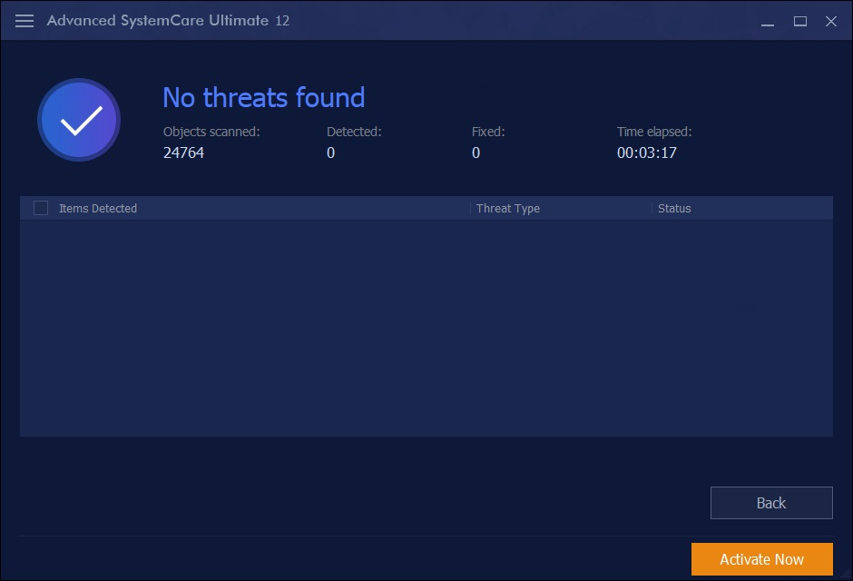 Threats Scan Result