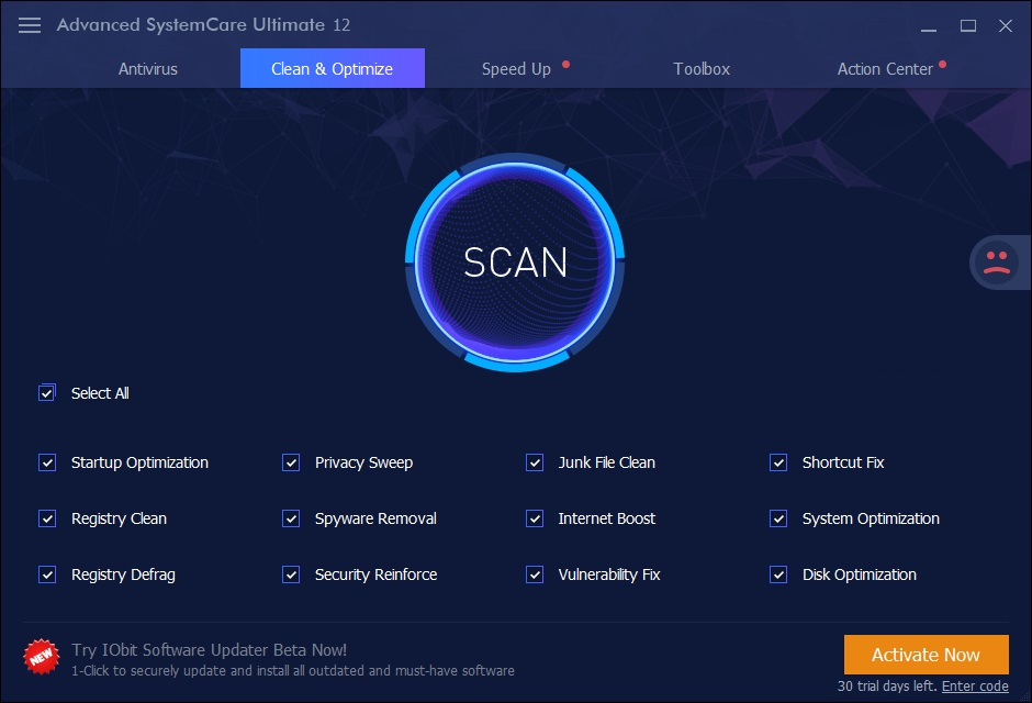 Clean & Optimize Scan