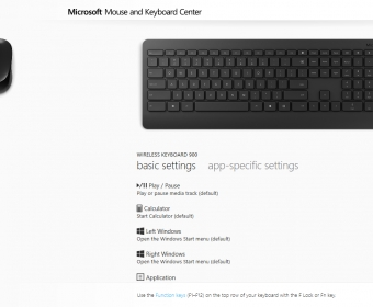 mouse and keyboard center