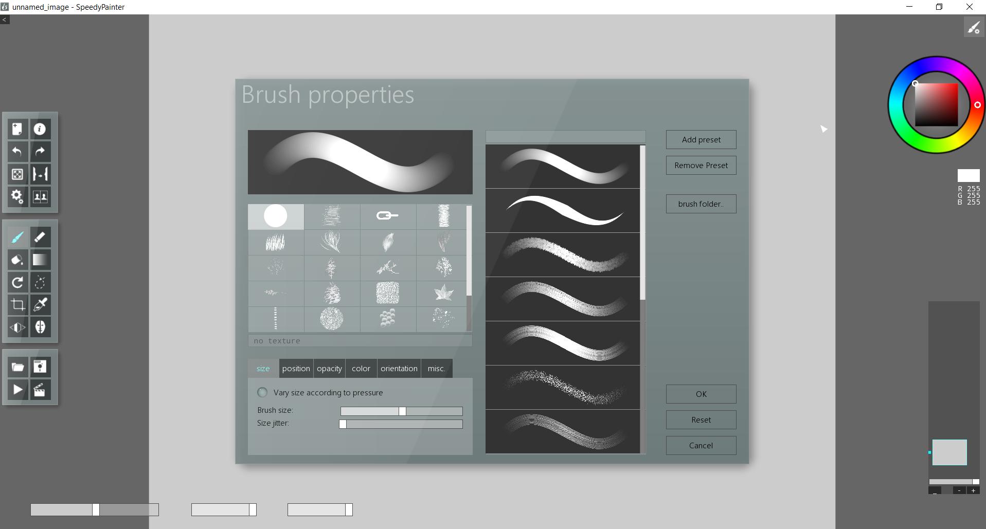 Brush window