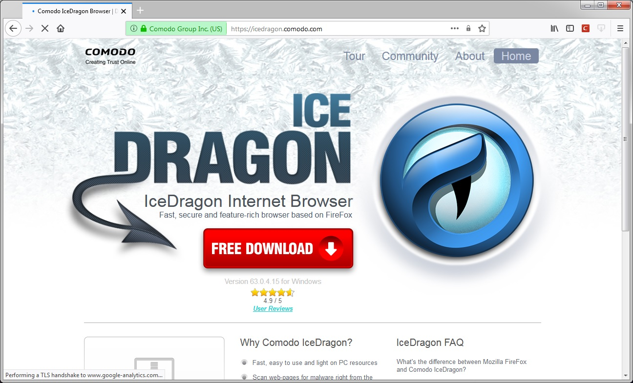 Comodo IceDragon 25 0 Download (Free) - icedragon exe