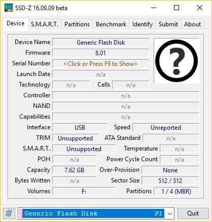 Flash Disk Info