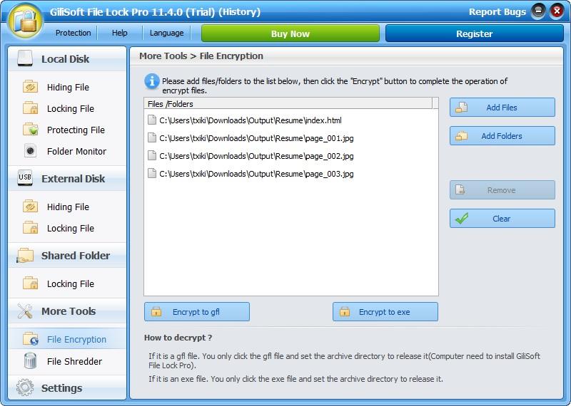 Encrypt Files on your PC using 256 bit AES Encryption GiliSoft File Lock Pro