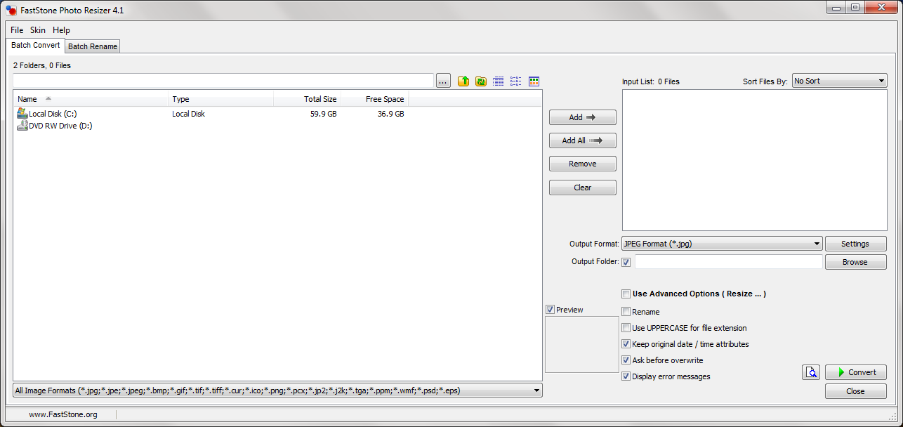 FastStone Photo Resizer  Get the software safe and easy