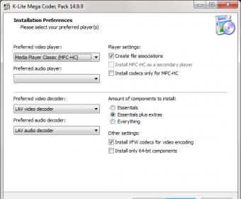 K-Lite Mega Codec Pack 8 9 Download (Free) - CodecTweakTool exe