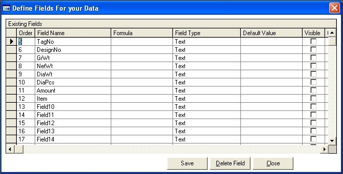 Database Field Editor