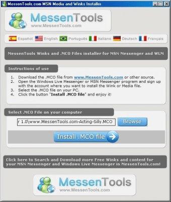 MessenTools com MSN Media and Winks Installer Download