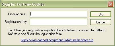Registration dialog