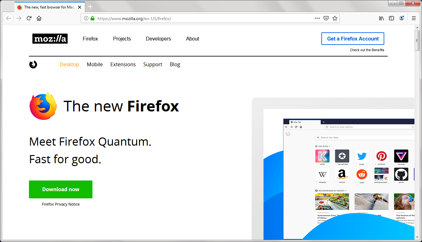 Firefox Download - Surf the web faster with features like