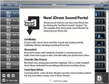 iZotope iDrum Download - IDrums will create drum patterns with its