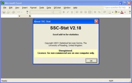 SSC-Stat v 2 Download Free Version
