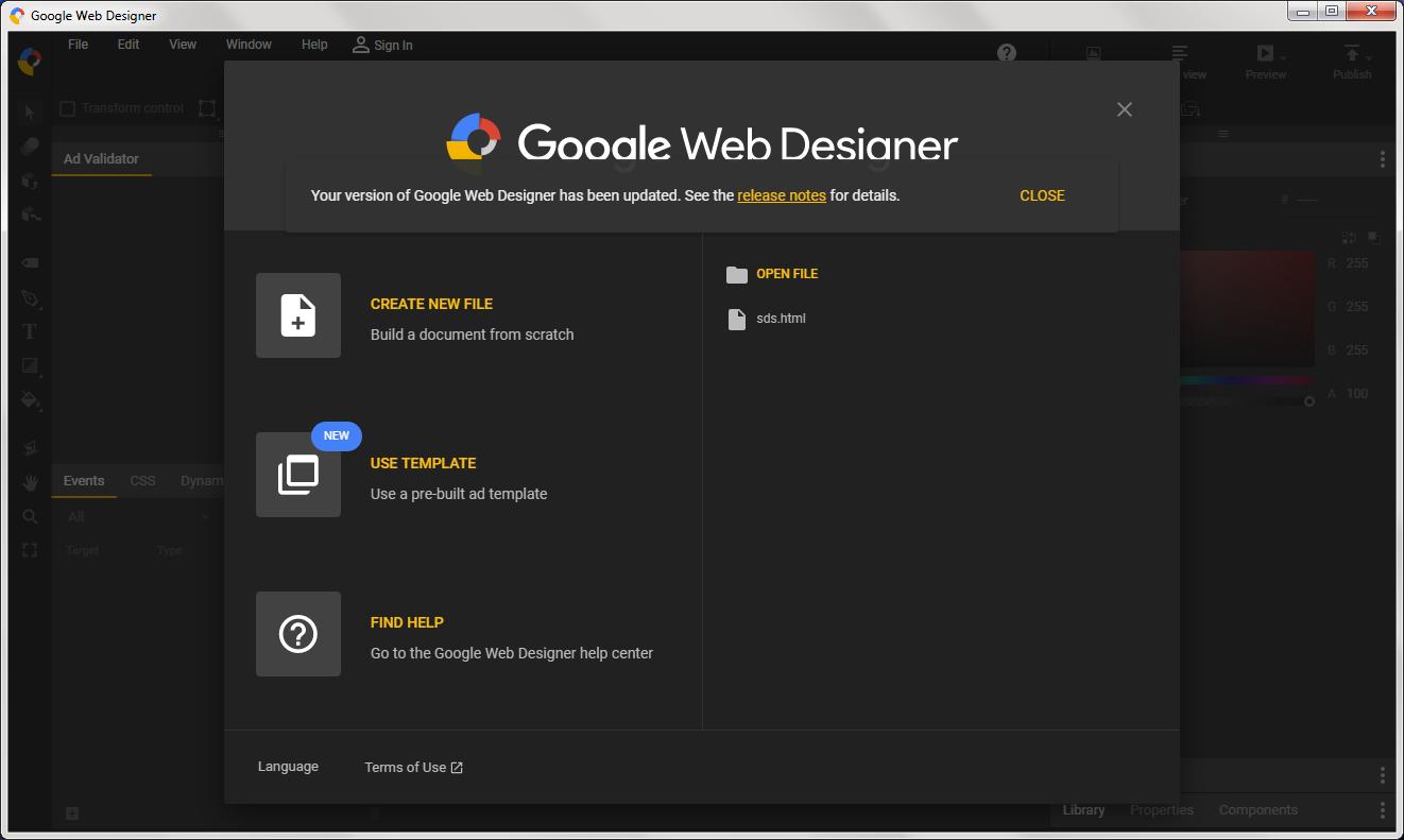 Google Web Designer 4 2 Download Free Webdesigner Exe