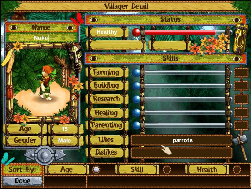 Villager detail