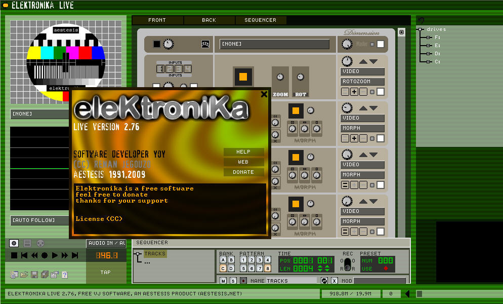 elektronika vj software