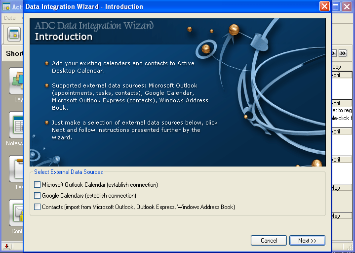 data integration wizard