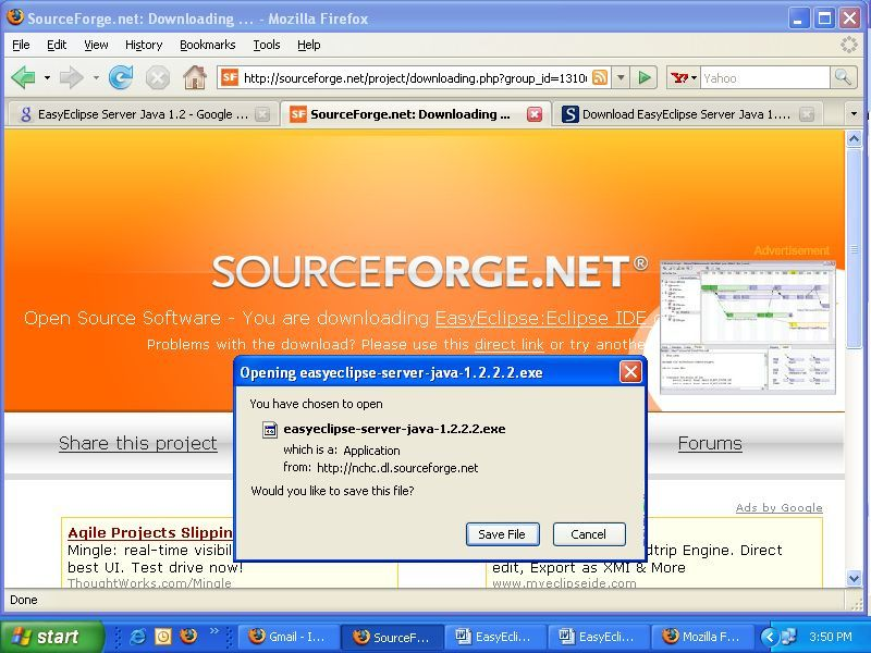 EasyEclipse Server Java Download (eclipse exe)