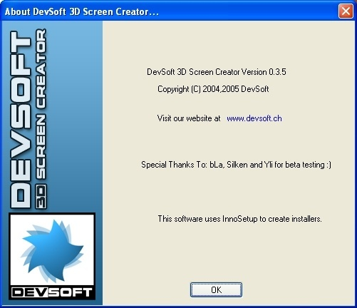 About 3D Screen Creator
