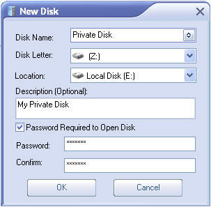 Creating a New Disk